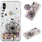 Yobby Coque pour iPhone XS,Coque iPhone X Liquide Paillette,Luxe Glitter Brillant...