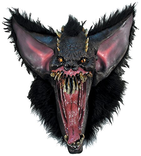 Halloween Kostüme Maske Gesicht Maske Kostüm Stütze Scary Creepy Schreckliche Maske Monster Maske Latex Maske Over-the-Head-Maske Gruesome Fledermausmaske für Maskerade Make-up Party