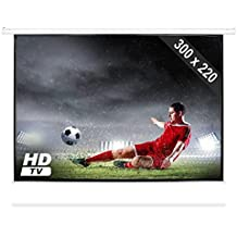 Parete di proiezione a motore HDTV 300x220 cm 4:3 (Fattore