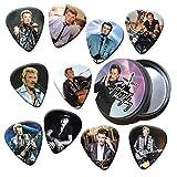 Johnny Hallyday 10 X Guitar Picks médiators dans le récipient d