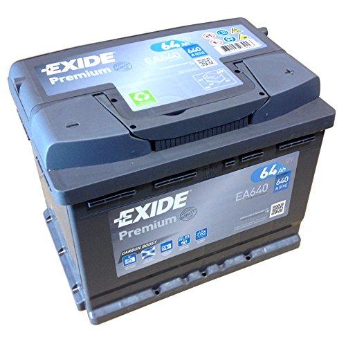 EXIDE PREMIUM Carbon Boost EA 640 - Batteria d?avviamento, 12 V, 64 Ah, nuovo modello 2014/15