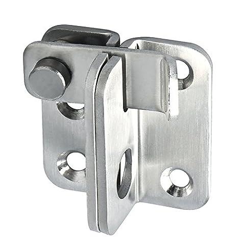 Sayayo Ems3001Verrou Loquet loquets de porte de sécurité Verrou de porte en acier inoxydable, finition brossée