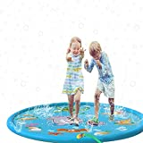 Cartoon Aufblasbare Rasen Wasser Spray Spielmatte Streuen Und Spritzen Spielmatte Wasser Splash Pad Pool Sommer Spiele Im Freien Garten PVC Spray Spielen Wasser Spielzeug