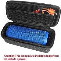 Para JBL Flip 3funda protectora, altavoz Bluetooth inalámbrico portátil bolsa de viaje caja de almacenamiento a prueba de golpes de Eva rígida protectora funda–Compatible con cable USB