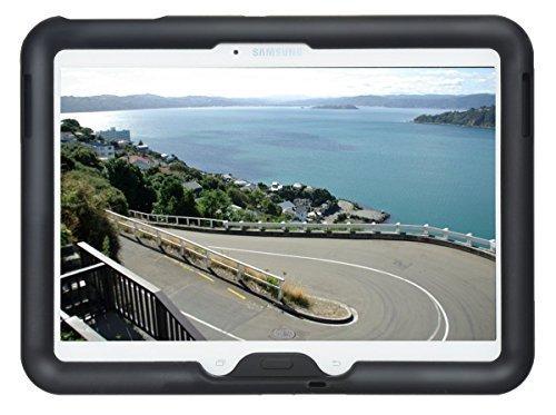 Bobj Silikon-Hulle Heavy Duty Tasche fur Samsung Galaxy Tab 4 10.1 und Tab 3 10.1 Tablet, WiFi (SM-T530), 3G (SM-T531), 4G (SM-T535), und andere modelle SM-T53..., und GT-P5200, GT-P5210, GT-P5220 - BobjGear Schutzhulle - (Schwarz)