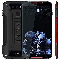 "Cubot Quest Lite (2019) Ultra Dünn Android 9.0 4G Dual Sim IP68 Wasserdicht Sport Outdoor Smartphone ohne Vertrag, 5"" HD Display mit 3000 mAh Akku, 3GB Ram+32GB Rom, Duak Kamera 13M / 8MP, Schwarz+Rot"
