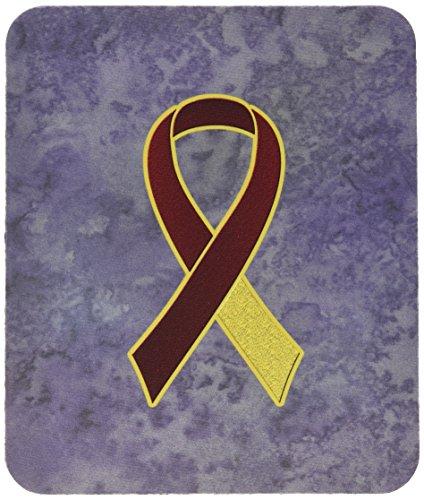 Caroline 's Treasures Burgund & Ivory Ribbon für Kopf & Nacken Cancer Bewusstsein Mauspad/Untersetzer (an1218mp)