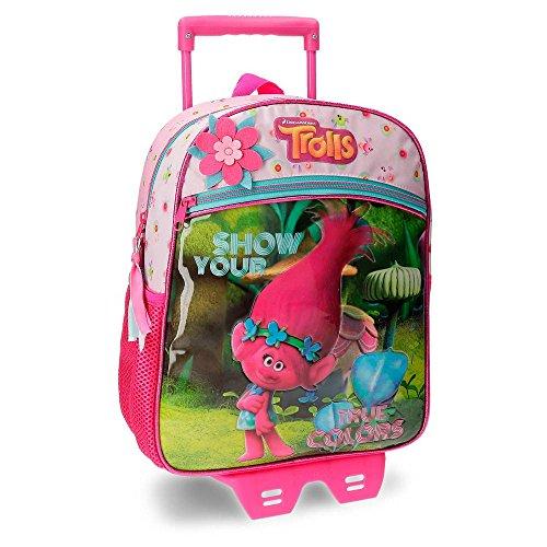 Imagen de trolls true colors  infantil, 33 cm, 9.8 litros, multicolor