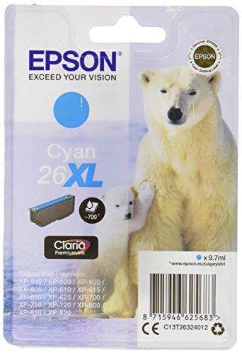 epson xp 620 Epson T2632 Tintenpatrone Eisbär XL, Singlepack cyan