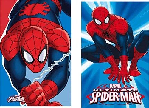 Marvel Spiderman - Gästetuch / Handtuch/ Gesichtstuch 30 x 50 cm 100% Baumwolle - 2er Pack