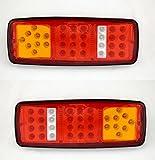2x Rücklicht LED 12V Beleuchtung 4Funktionen für Truck Trailer Chassis Kippmulde Wohnmobil LKW LKW Camper