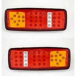 Luci posteriori a LED, 12V, 4funzioni, design ultra sottile, per camion, rimorchio, ribaltabile, autocarro, camper ecc., 2 pezzi