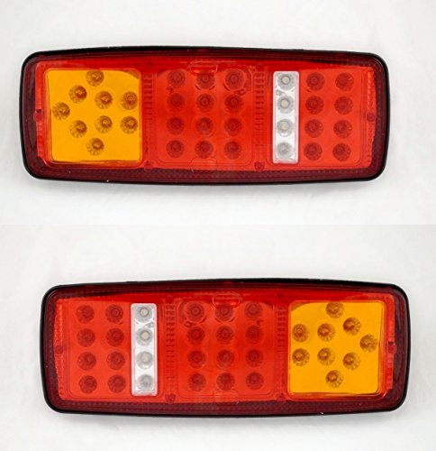 2x Rear Tail LED 12V luce 4funzioni per camion rimorchio telaio ribaltabile camper e camion Lkw camper