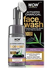 WOW Skin Science Charcoal Foaming Face Wash with BuiltIn Fa
