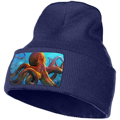 Unisex Knit Hat Cap Octopus Winter Warm Knitted Acrylic