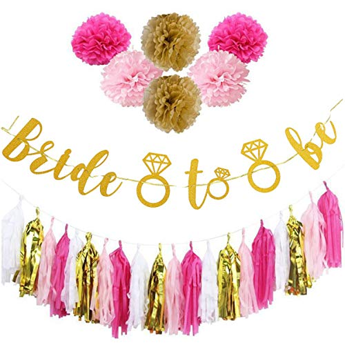 Bluelover Braut, Banner Papier Pompom Gewebe Quasten Ball Hen Party Hochzeit Girlanden Dekorationen Zu Sein