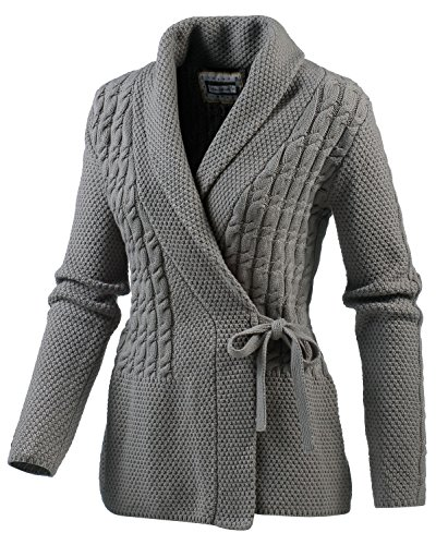 White Season Damen Strickpullover, Grau, 38, 173031