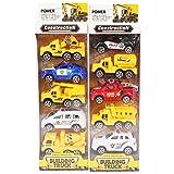 #9: Planet of Toys Kid's Pullback Construction Truck (POTPOT0026-F11CONSTRUCTIONTRUCKSET) - Set of 10