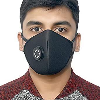 Prime Box Anti Pollution Mask Basic N-95 Black Multi-Use With Easy Exhalation Valve