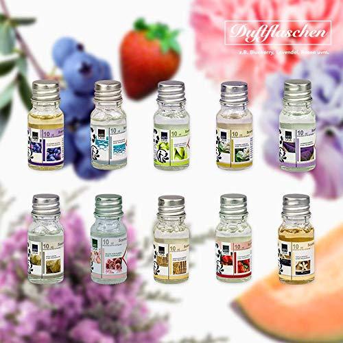 10 Duftöl Set Ätherisches Öl, Raumduft für Duftlampe Diffuser als Aroma-Therapienöl: Blaubeere,...