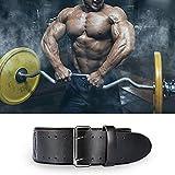 Gewichthebergürtel – 4,5 Zoll Leder Gym KDK Gürtel für Bodybuilding Krafttraining Kreuzheben Kniebeugen Rückenstütze Fitness Übung, Männer, Frauen - 5