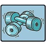 Mauspad Cartoon Hantel Lustiges Kunst Rechteck Gummi Mousepad Länge 18 x 22 cm Gaming Mauspad mit...