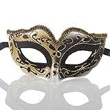 LXQ Maske, Karnevalsmaske, Kinder Halbe Gesichts-Goldpuder-Schablonen-Partei/Maskerade Venedig Party Maske/Feiertag Halloween-Maske,C