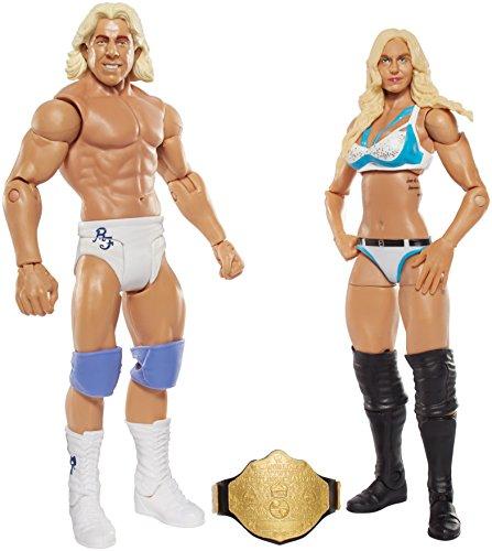 WWE Mattel - DJT02 Battle Pack - Charlotte & RIC Flair - 2 x Actionfiguren, 15cm (Wwe Figuren Big Pack)