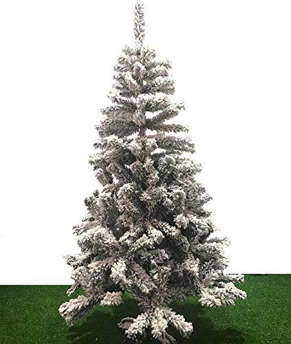 Artificiale Slim Premium Bianco Floccato Albero di Natale, Simulazione di Neve Neve Cedro Scultura, PVC Indoor Xmas Albero di Natale,90Cm