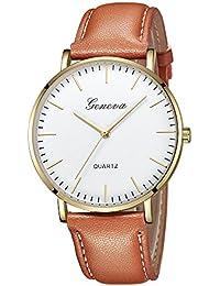 Naturazy-reloje para Mujer Reloj Damas Señoras Lujo Impermeable Fino Reloj de Cuero Minimalista Moda