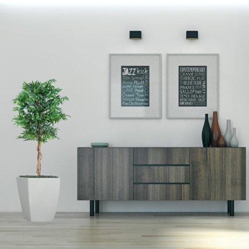 Marihuana Kunstpflanze mit Echtholzstamm Cannabis Pflanze Kunstbaum – 150 cm groß - 5
