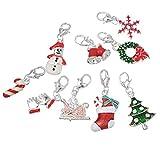 Souarts, ciondoli natalizi di varie forme per la creazione di collane,...