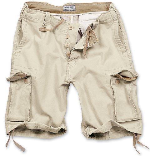 Surplus Vintage Herren Cargo Shorts, beige, Größe M Surplus Chino Hose