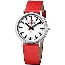 Mondaine Herren-Armbanduhr XL Stop2Go Analog Quarz Leder A512.30358.16SBC