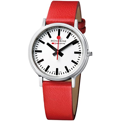 Mondaine men's Quartz Watch Analogue Display and Leather Strap A512.30358.16SBC