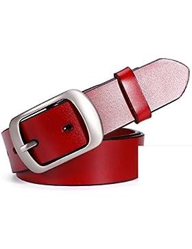 Cinturón Multiuso Simple/Faja Retro De La Moda-rojo 110cm(43inch)