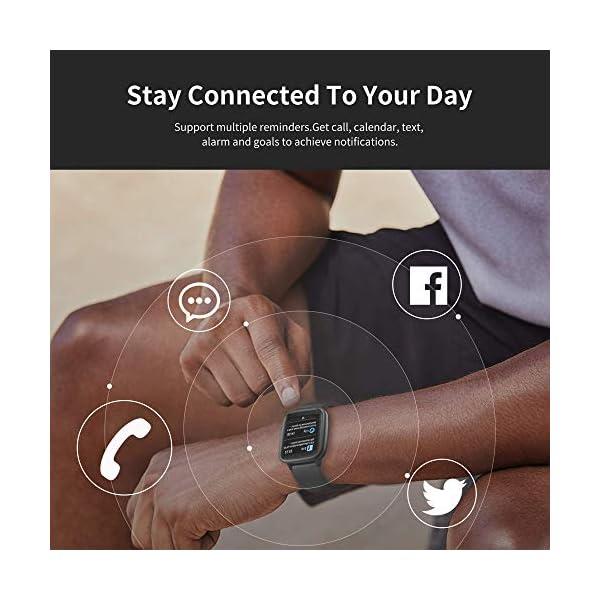 Smart Watch Bluetooth 5.0 Reloj Inteligente Impermeable IP68 Actividad GPS Sueño Pulsómetros Podómetro Caloría Deporte Fitness Música Control Despertador Pantalla Táctil Completa para Android iPhone 5