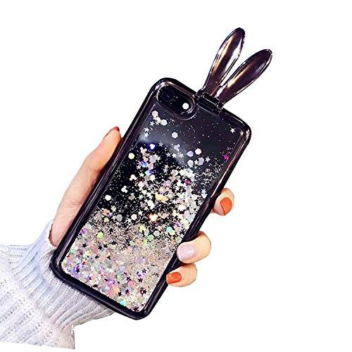 Case iPhone 6 Plus,iPhone 6S Plus Cover,Diamante Bling Glitter Lusso Cristallo Strass Morbida Rubber Full body [Rotazione Grip Ring Kickstand] con Supporto Dellanello Shock-Absorption Bumper e Anti-S Pattern 02