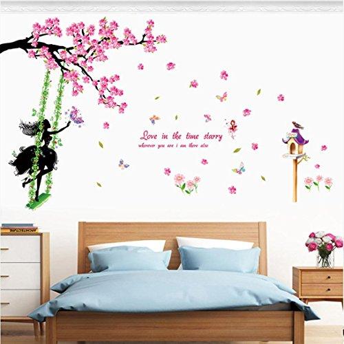 Wand Blume (Oyedens Neue Schmetterlings Blumen Fee Schlafzimmer Wohnzimmer Wand Aufkleber)