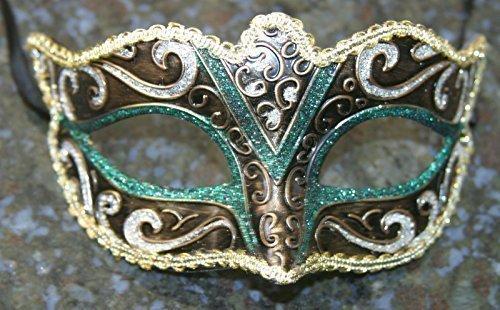 venitien-masque-de-mascarade-partie-des-yeux-masque-vert-noir-argent-bronze-et-or