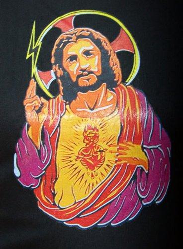 Killer Kirsche Sacred Heart JESUS Girlie T-Shirt/Oberteil - schwarz  Rockabilly Schwarz mit ...