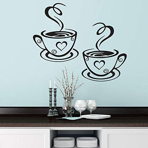 Ein Paar Kaffeetassen, europäische und amerikanische englische Poesie Ay1089 31 * 18Cm