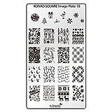 Original KONAD Square 10 Stamping Schablone - SQUARE No. 10 Image Stamping Plate