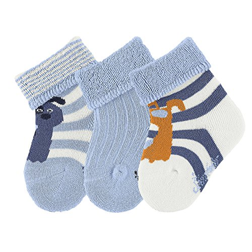 sterntaler-baby-sockchen-3er-pack-hund-calcetines-para-bebes-beige-ecru-903-18