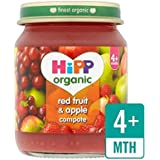 Hipp Fruits Et Compote De Pomme Rouge 125G Organique - Paquet de 4