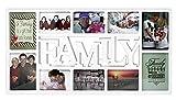 Close Up 3D Fotorahmen Family für 10 Fotos- Qualität Collage Bilderrahmen XL - ca. 73x37 cm - Weiß