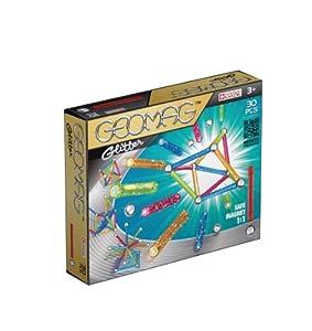 Geomag- Classic Glitter Construcciones magnéticas y juegos educativos, Multicolor, 30 piezas (531)
