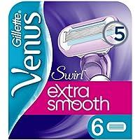 Gillette Venus Extra Smooth Swirl Ersatzklingen, 6 Stück