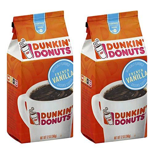 Dunkin' Donuts Französisch Vanilla gemahlener Kaffee - (Pro Beutel 2-Pack) - amerikanischer...