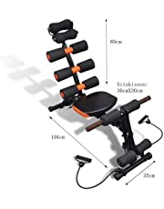 Six Pack Abs Exerciser Machine Training Weight Loss Evolutionary Abdominal Machine Portable Oblique Exercises Pro Abs Exercise Workout Equipment for Home Gym Fitness (Six.PackNew)